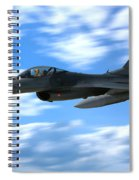 Flight Of The Falcon Spiral Notebook