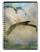 Flight Of The Seagulls Spiral Notebook
