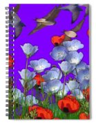 Flight Over Poppies Spiral Notebook