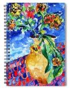 Flip Of Flowers Spiral Notebook