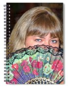Flirting With The Fan Spiral Notebook