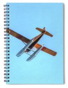 Float Plane Fly Over Pacific Northwest Spiral Notebook
