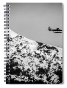 Float Plane Over The Mountain Spiral Notebook