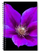 Floating Clematis Spiral Notebook