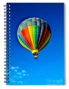 Floating Free In A Hot Air  Balloon Spiral Notebook