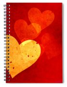 Floating Hearts Spiral Notebook