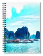 Floating In Ha Long Spiral Notebook