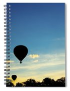 Floating In The Air At Sundown Spiral Notebook