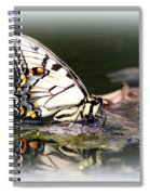 Floating In Water - Swallowtail -butterfly Spiral Notebook