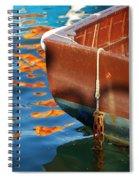 Floating On Blue 11 Spiral Notebook