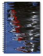 Floating On Blue 14 Spiral Notebook