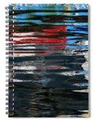 Floating On Blue 19 Spiral Notebook