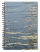 Floating On Blue 17 Spiral Notebook