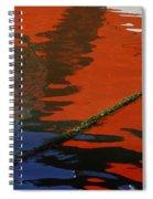 Floating On Blue 26 Spiral Notebook