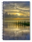 Floating Over The Lake Spiral Notebook