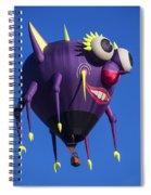 Floating Purple People Eater Spiral Notebook