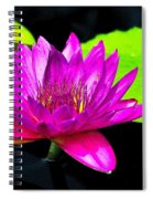 Floating Purple Water Lily Spiral Notebook