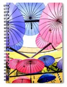 Floating Umbrella Spiral Notebook