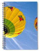 Floating Upward Hot Air Balloons Spiral Notebook
