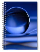 Floating Water Drop Spiral Notebook