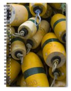 Floats Used In Crab Fishing Spiral Notebook