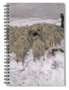 Flock Of Sheep In The Snow Spiral Notebook
