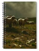 Flock Of Sheep Spiral Notebook