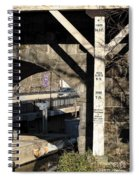 Flood Height Sign At Ellicott City Maryland Spiral Notebook