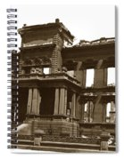 James Clair Flood Mansion Atop Nob Hill San Francisco Earthquake And Fire Of April 18 1906 Spiral Notebook