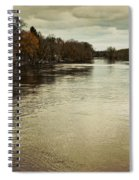 Flood Waters Milwaukee River 2013 Spiral Notebook