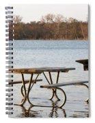Flooded Park Bench Lunch Spiral Notebook