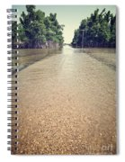 Flooded Road Spiral Notebook