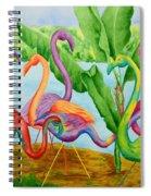 Floosie Flamingos Spiral Notebook