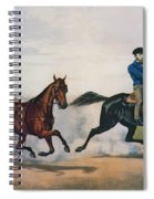 Flora Temple And Lancet Racing On The Centreville Course Spiral Notebook