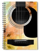 Floral Abstract Guitar 14 Spiral Notebook