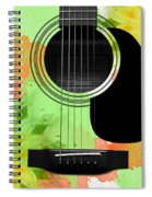 Floral Abstract Guitar 15 Spiral Notebook