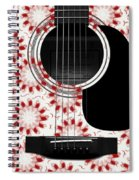 Floral Abstract Guitar 24 Spiral Notebook