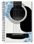 Floral Abstract Guitar 25 Spiral Notebook