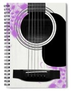 Floral Abstract Guitar 26 Spiral Notebook