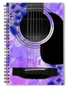 Floral Abstract Guitar 27 Spiral Notebook