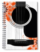 Floral Abstract Guitar 32 Spiral Notebook