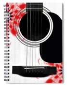 Floral Abstract Guitar 33 Spiral Notebook