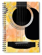 Floral Abstract Guitar 37 Spiral Notebook