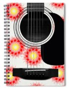 Floral Abstract Guitar 8 Spiral Notebook
