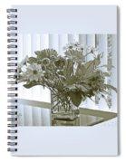 Floral Arrangement With Blinds Reflection Spiral Notebook