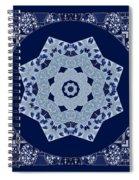 Floral Flow Blues Spiral Notebook