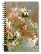 Floral Fractal 030713 Spiral Notebook