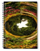 Floral Garden Polar View  02 Spiral Notebook