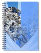 Floral Half Heart Spiral Notebook