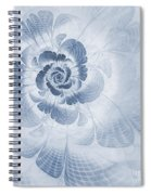 Floral Impression Cyanotype Spiral Notebook